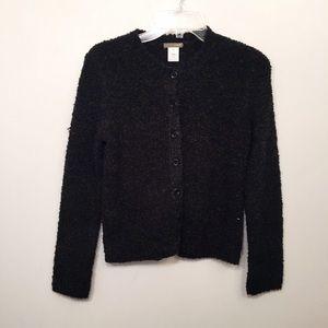 J.CREW Dark Grey Wool Cozy Fuzzy Knit Sweater